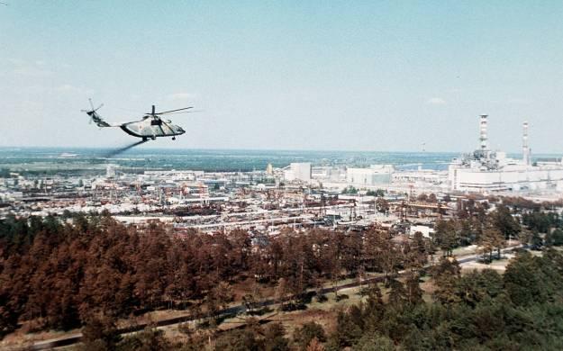 soccorsi Chernobyl elicotteri foto