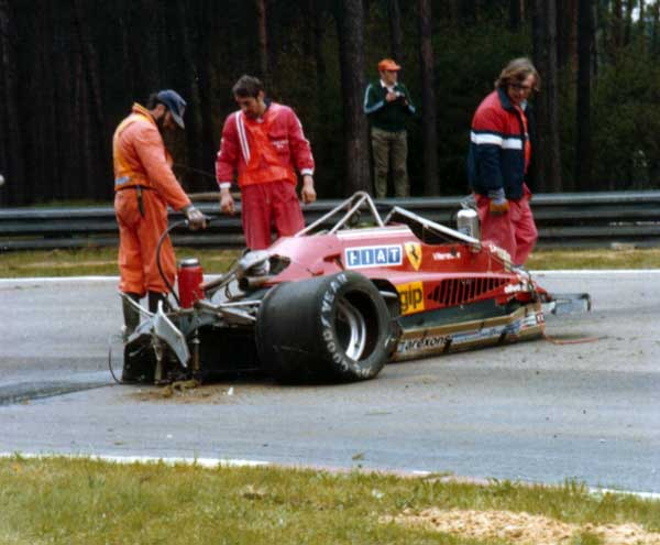 Gilles Villeneuve incidente crash
