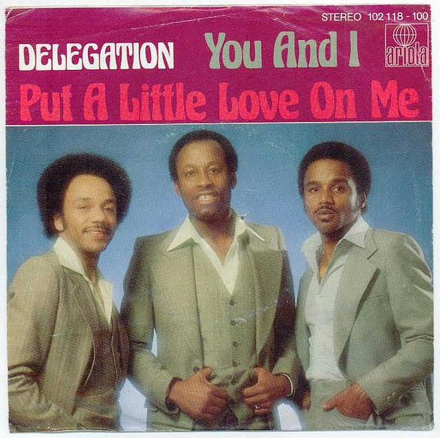delegation you and i put a little love on me 1980 copertina