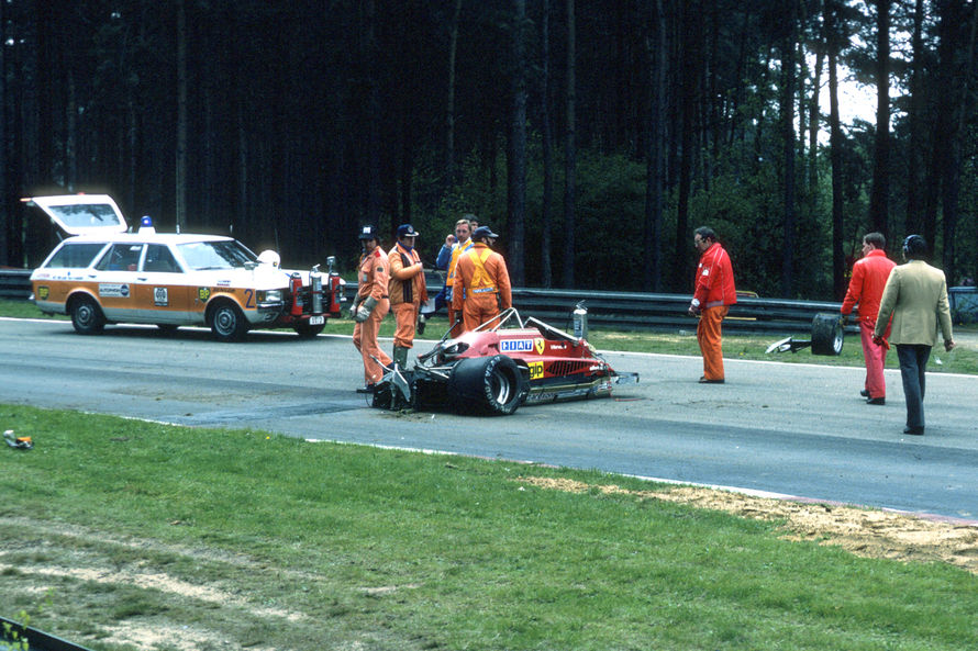 gilles villeneuve crash incidente mortale zoder 1982