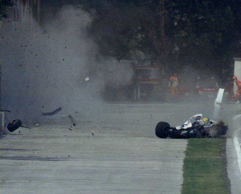 incidente ad ayrton senna
