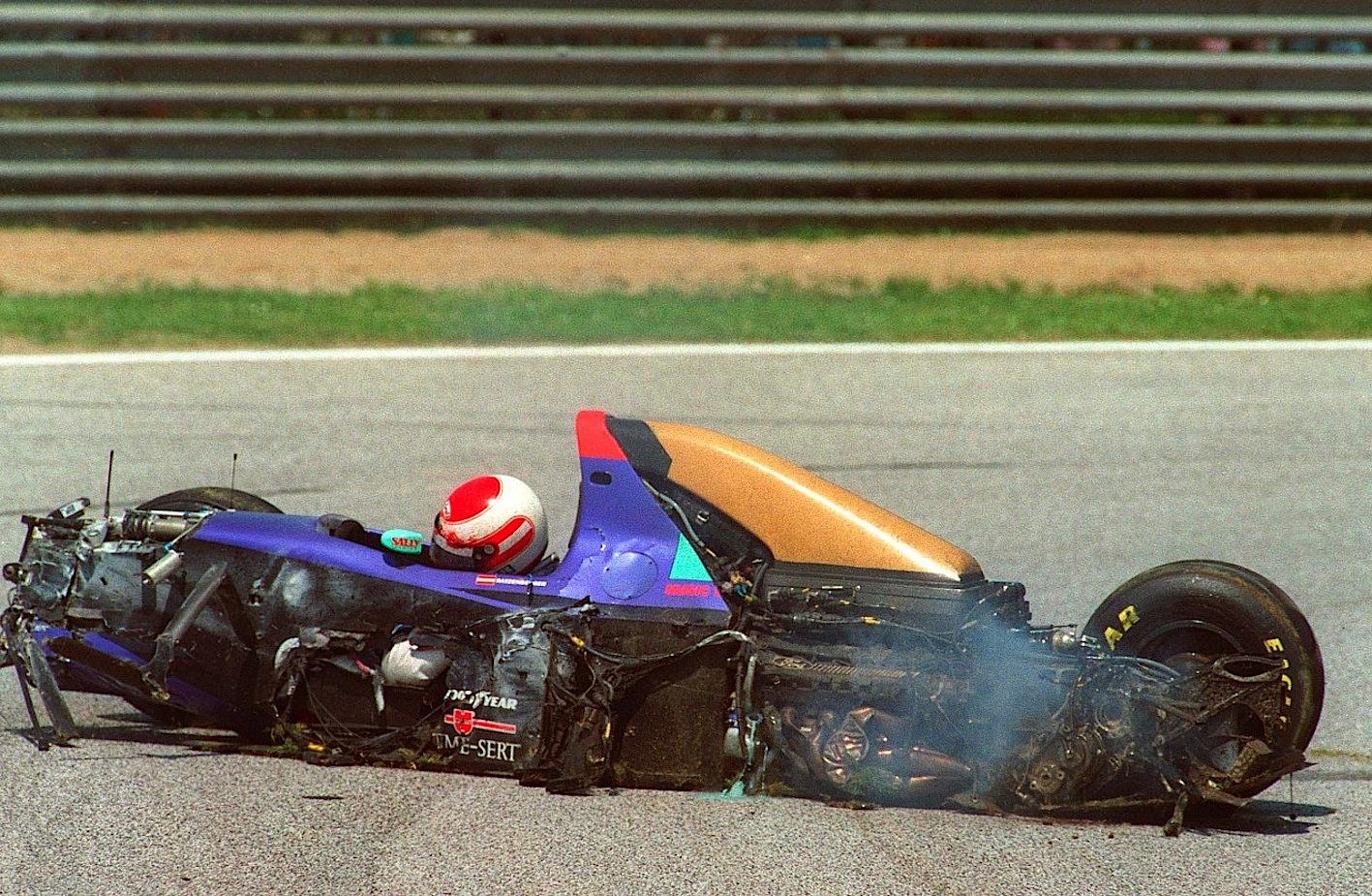 roland_ratzenberger_crash_incidente_Imola_1994