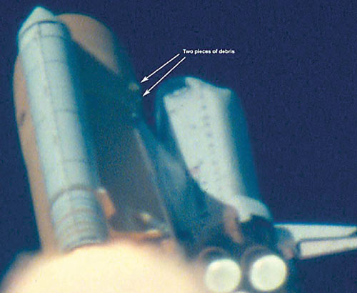 shuttle columbia perde materialei
