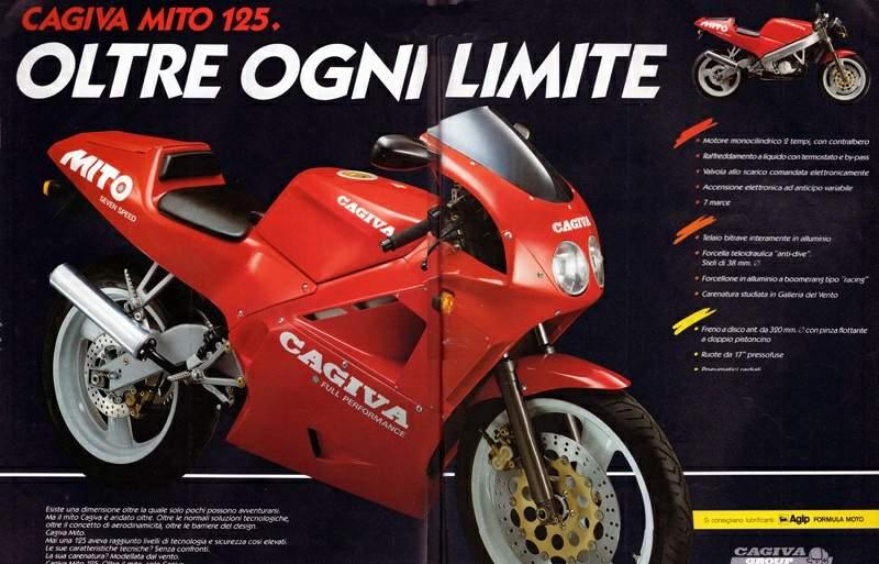 Cagiva 125 Mito catalogo brochure