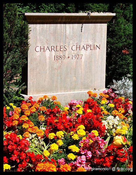 charlie chaplin tomba
