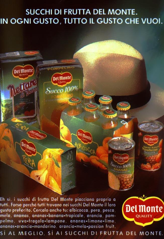 Succhi Del Monte Topolino 1856 anno 1991