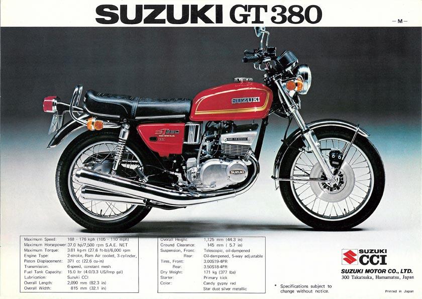Suzuki gt 380 gt L 1974 1975
