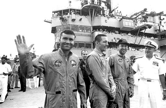 Astronauti apollo 13 al rientro salvataggio