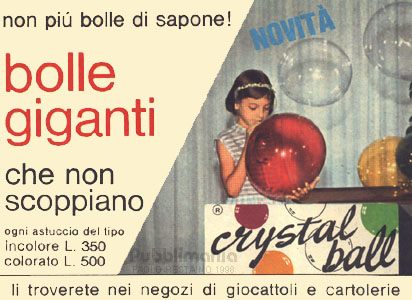Crystall ball confezione vintage