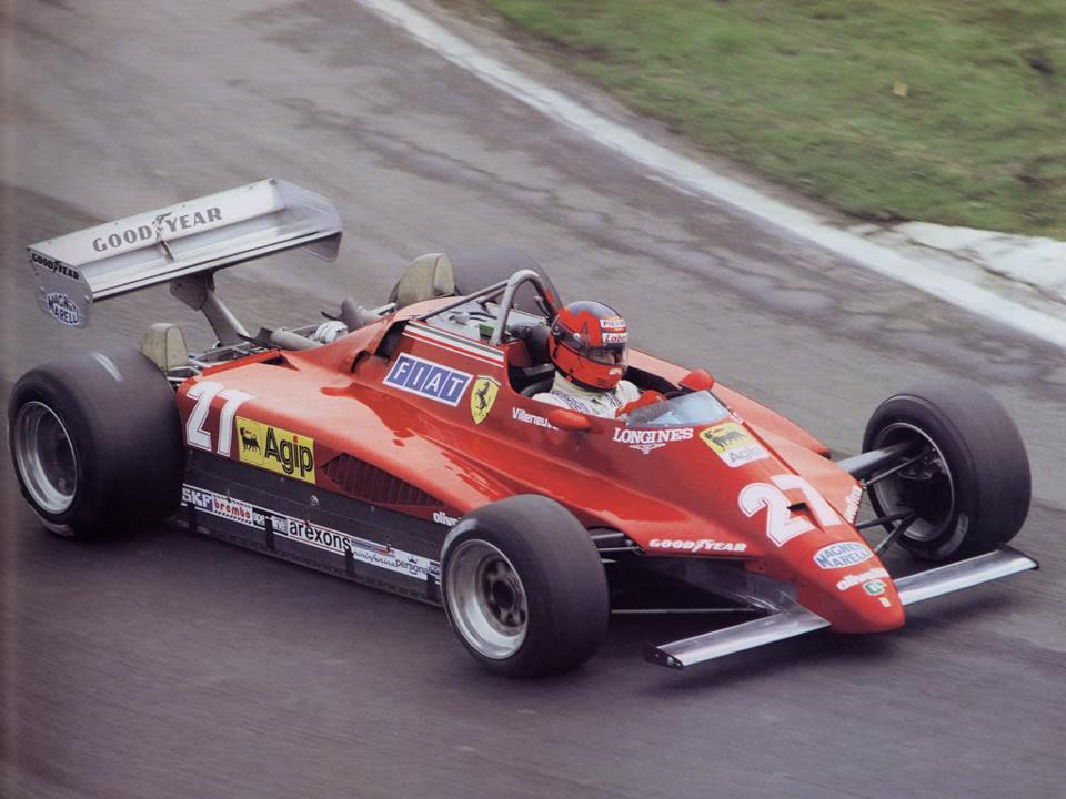 Gilles Villeneuve su Ferrari - 1982