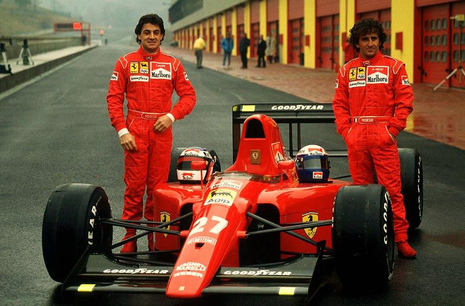 Team Ferrari 1991 - Jean Alesi e Alain Prost