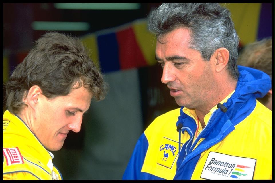 Un giovanissio Schumacher con Briatore