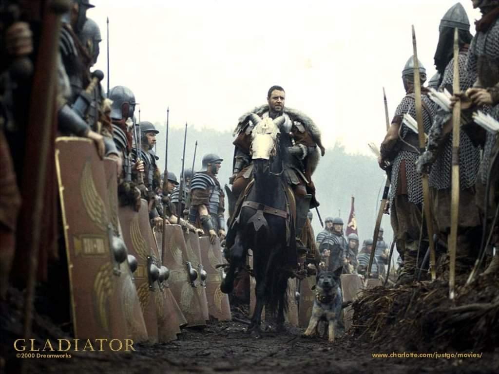 il gladiatore battaglia