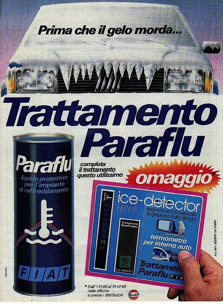 paraflu olio fiat anni 80