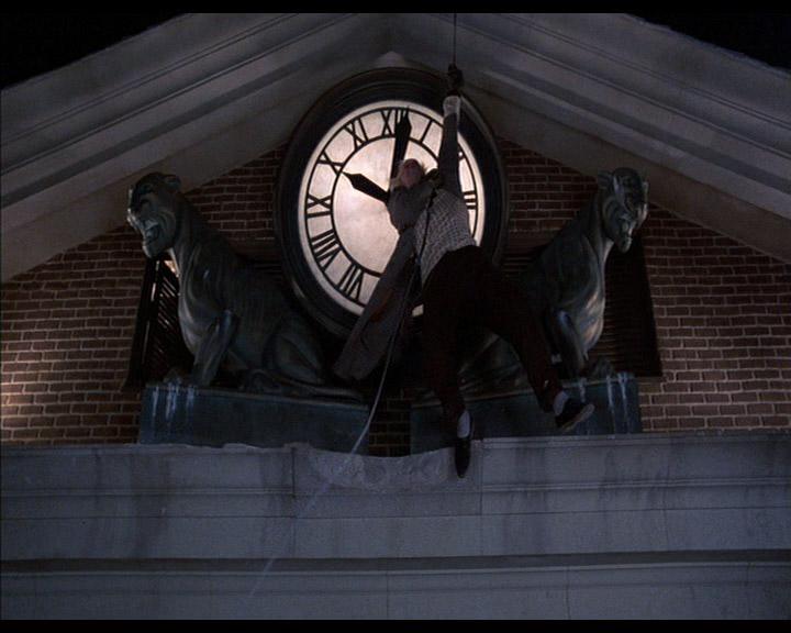 ritorno al futuro scena orologio