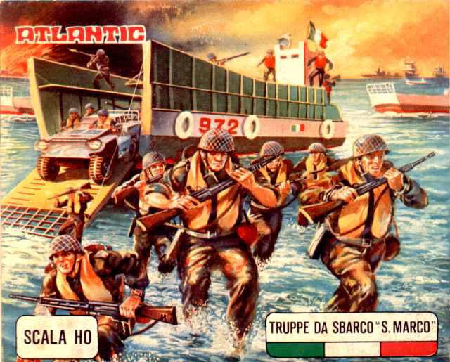 soldatini atlantic truppe da sbarco san marco confezione vintage