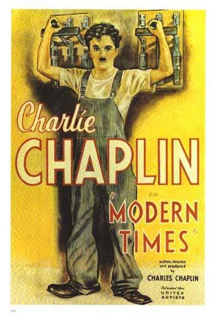 charlie chaplin locandina tempi moderni