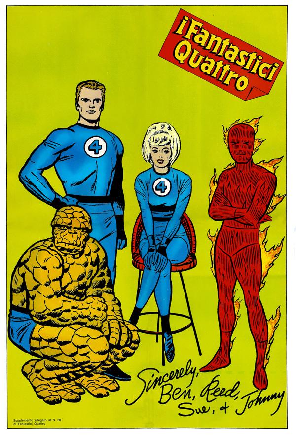 Poster Fantasti Quattro editoriale Corno 50