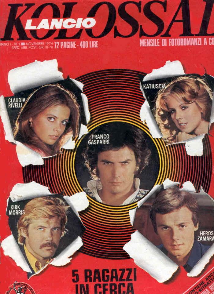 Il Numero 1 di Kolossal del 1974 - Lancio fotoromanzi