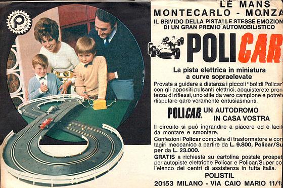 POLICAR PUBBLICITA ANNI 70