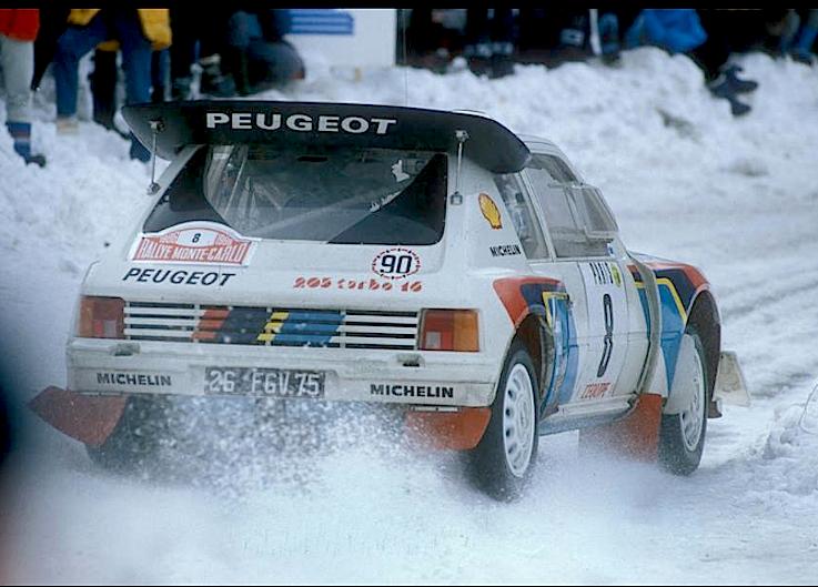 Peugeot 205 turbo 16 mondiale 1986