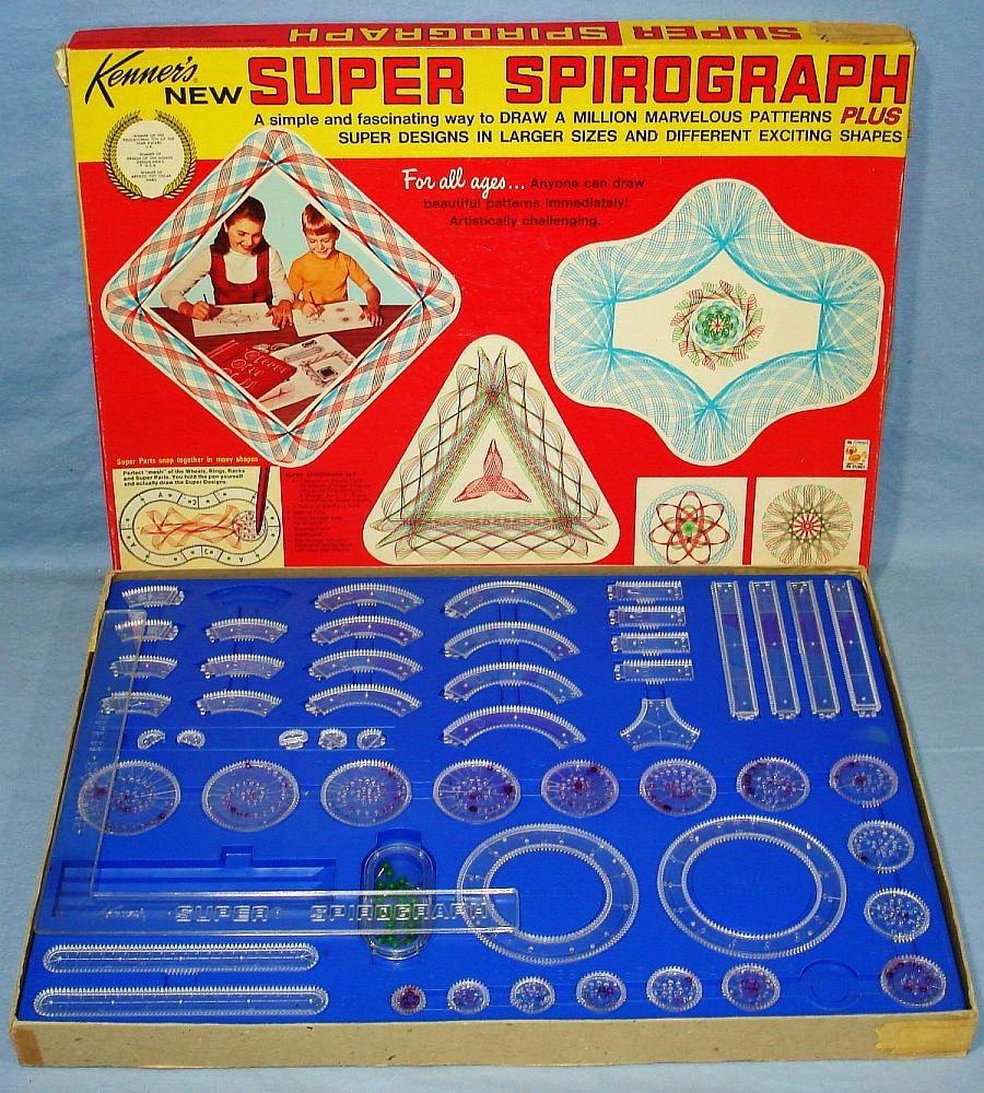 """Confezione della Kenners del """"Super Spirograph"""""""