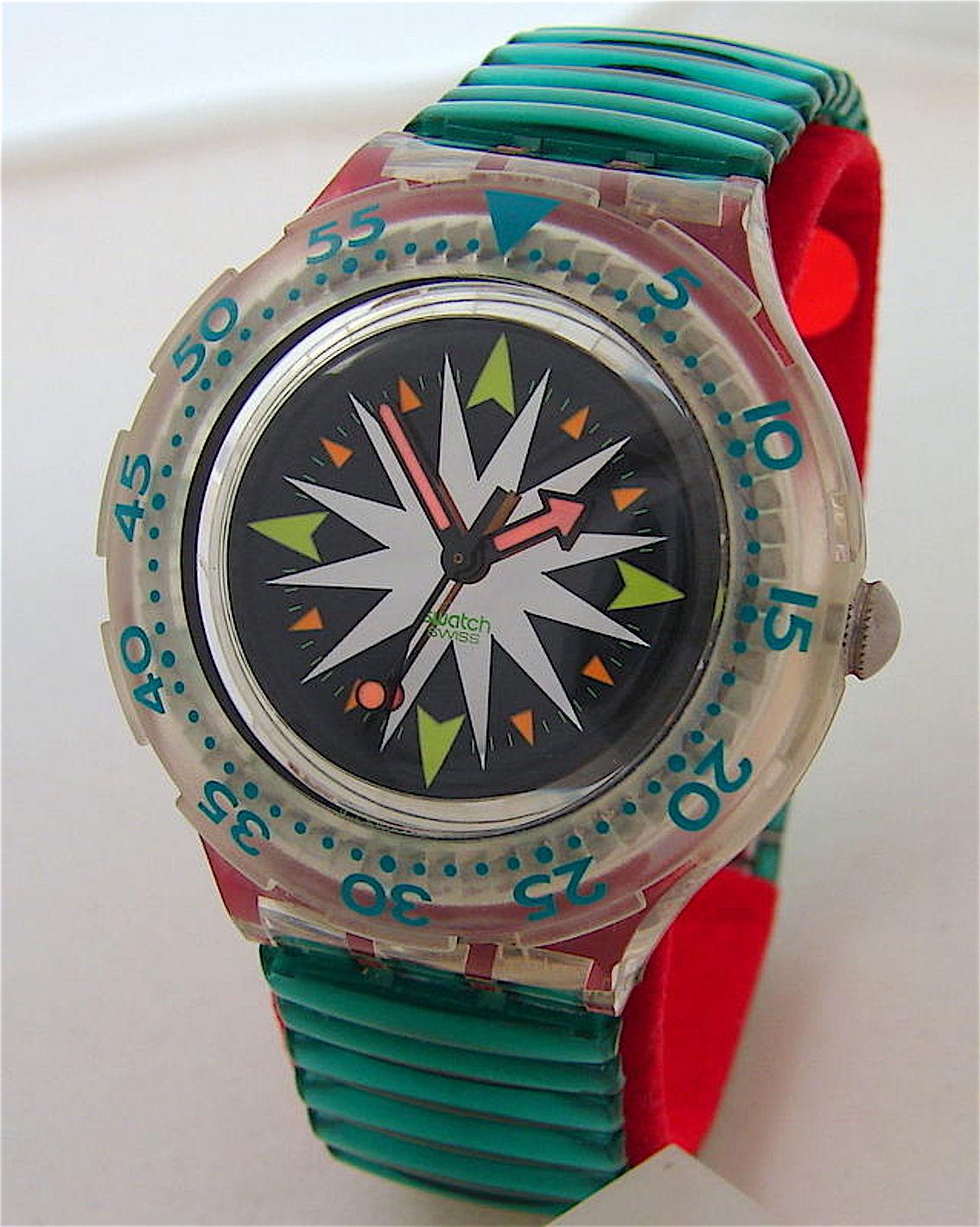 Swatch_menta gocce_Scuba orologio_1992