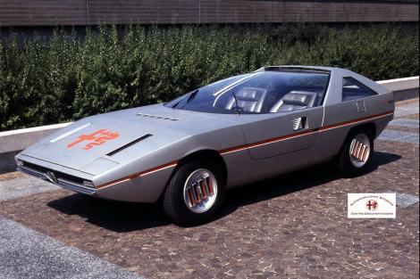 storia dell'auto alfa romeo caimano 1976 prototipo