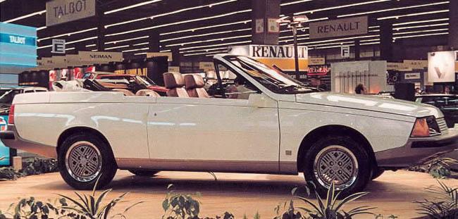 storia dell'auto renault fuego cabrio