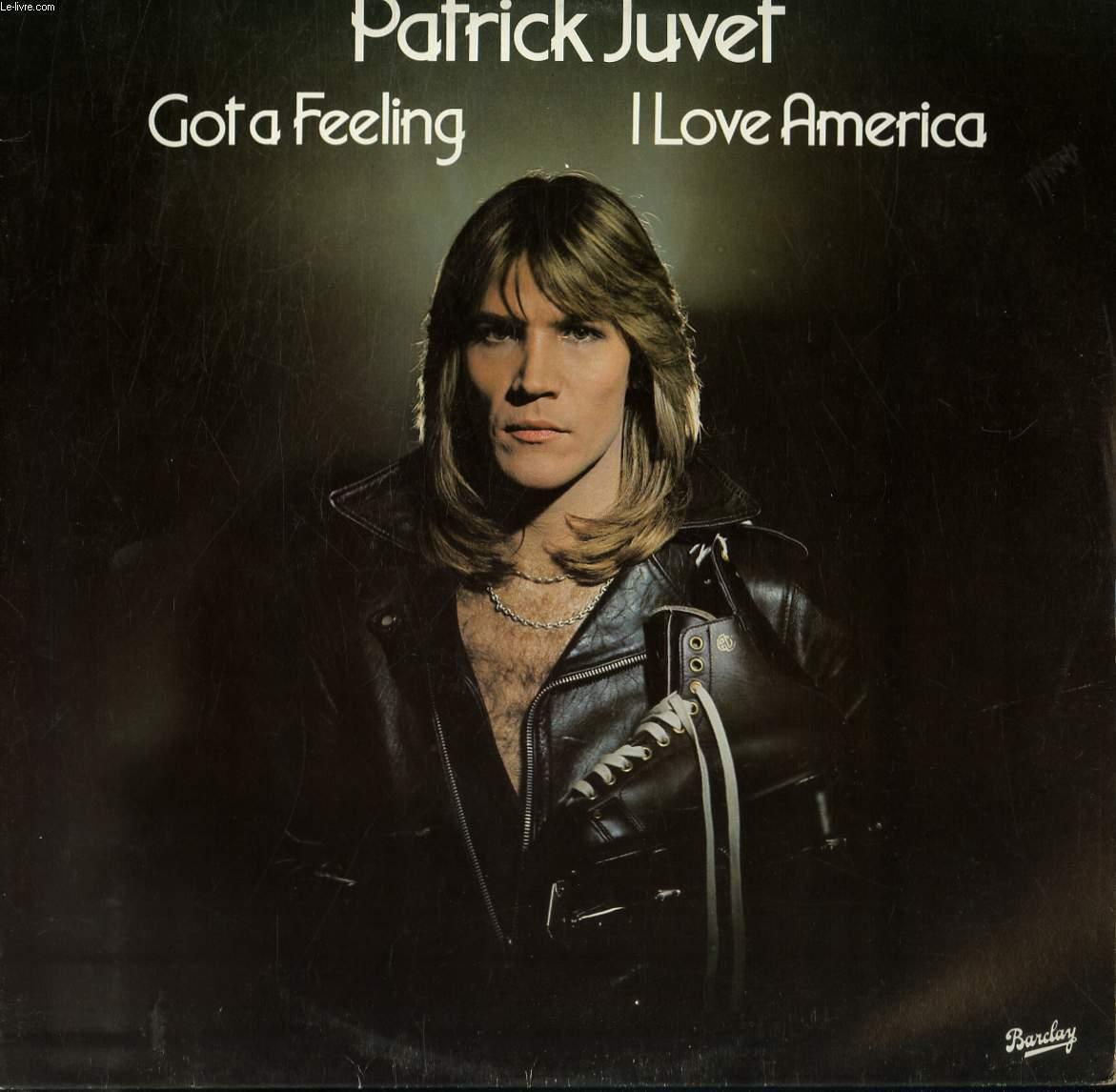 patrick juvet i love america copertina 45 giri disco