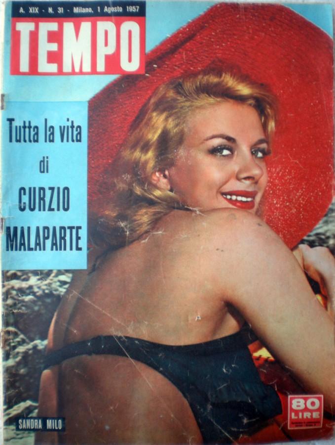 Sandra Milo copertina di Tempo 1957