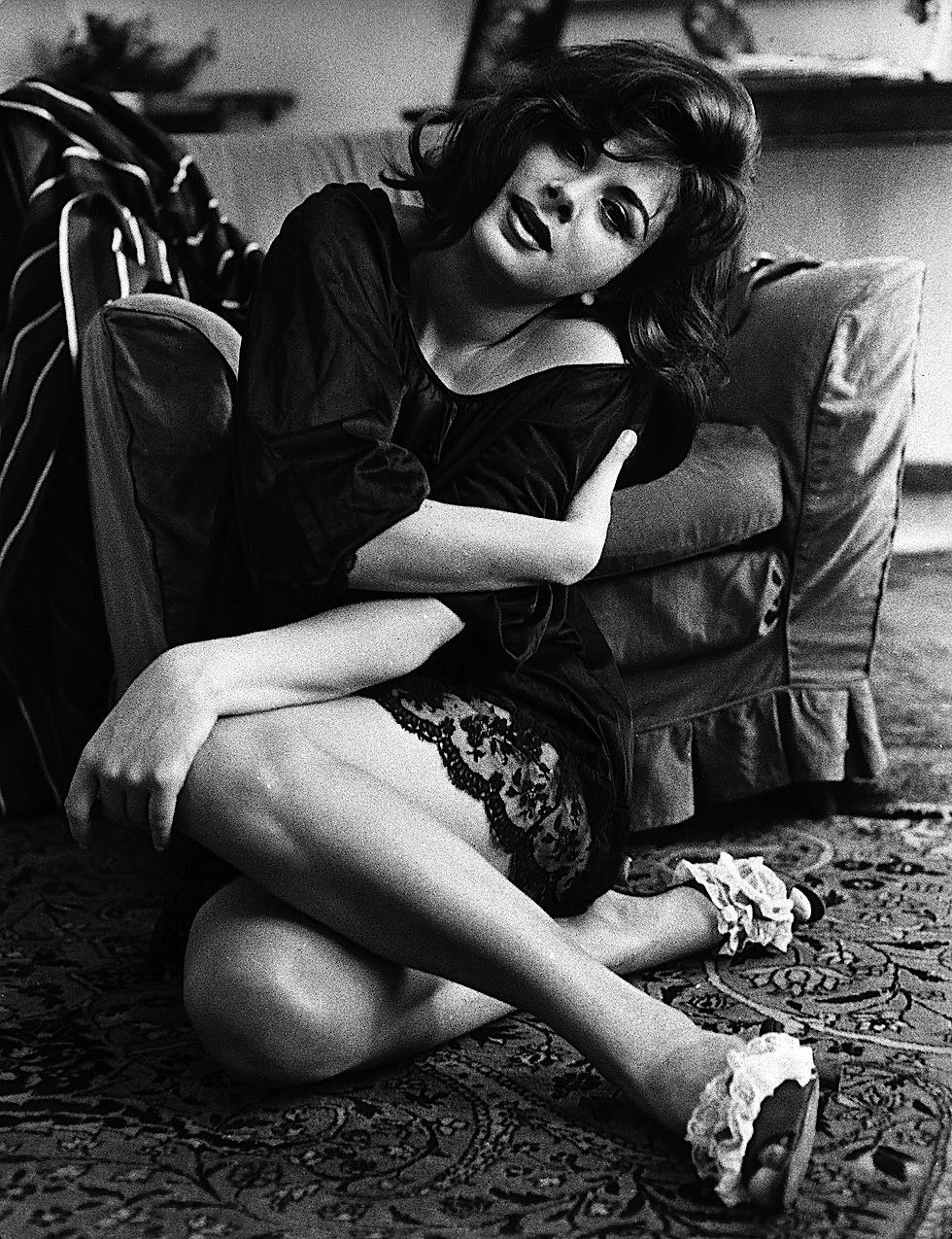 ©roma press/lapresse archivio storico spettacolo cinema Roma anni '60 Sandra Milo nella foto: Sandra Milo nella sua casa romana