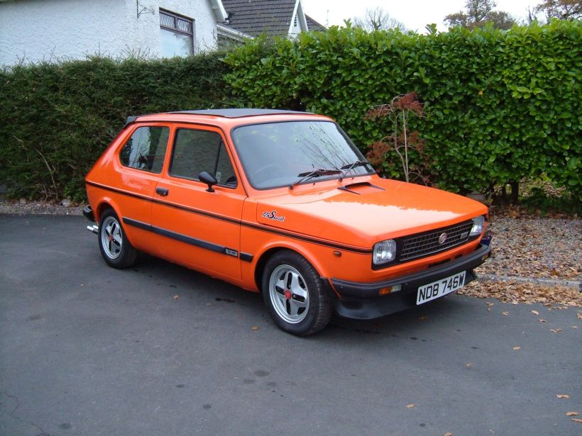 fiat 127 sport 70 hp arancio