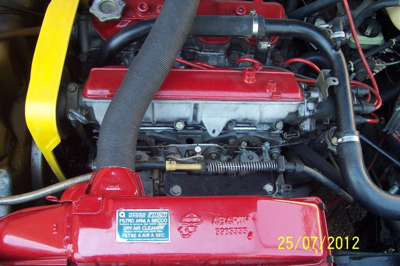 Motore di una Abarth 130 TC