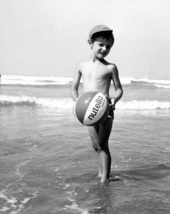 """Eccomi qui nel 1970 con il mitico """"Pallone Nutella"""""""