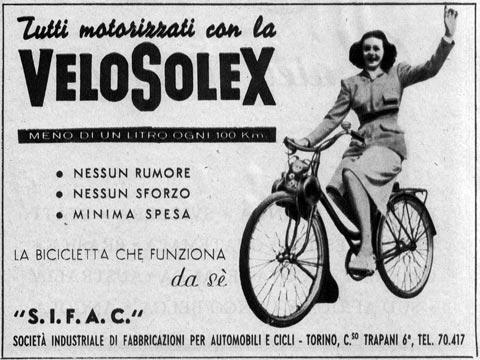 Velosolex pubblicità anni 50