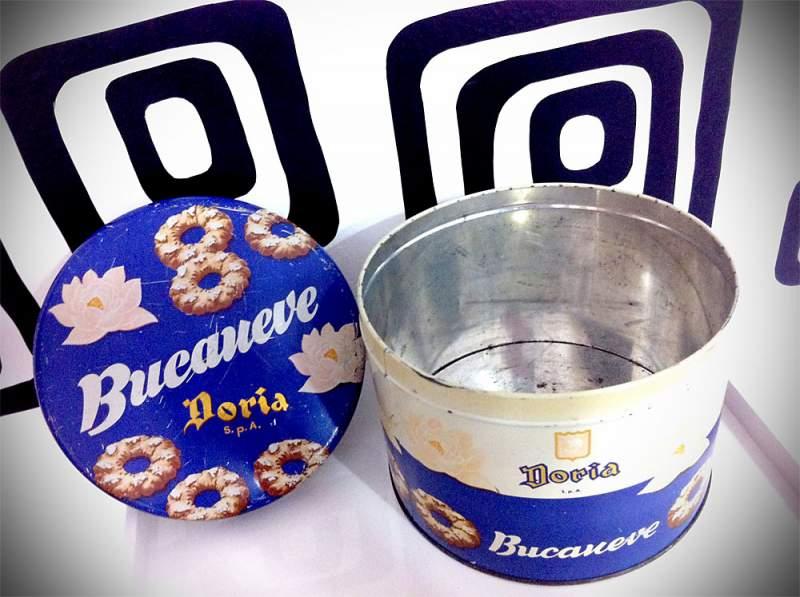 biscotti doria scatola latta vintage
