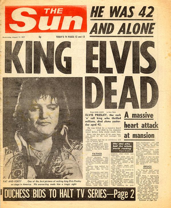 elvis presley morto dead