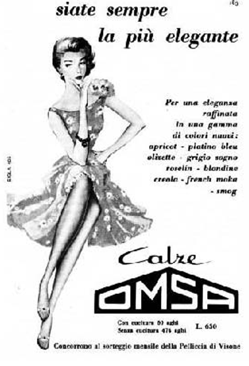 pubblicità calze OMSA
