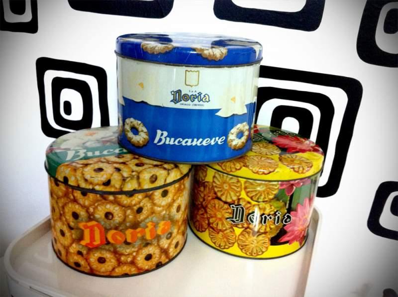scatole latta biscotti doria anni 80