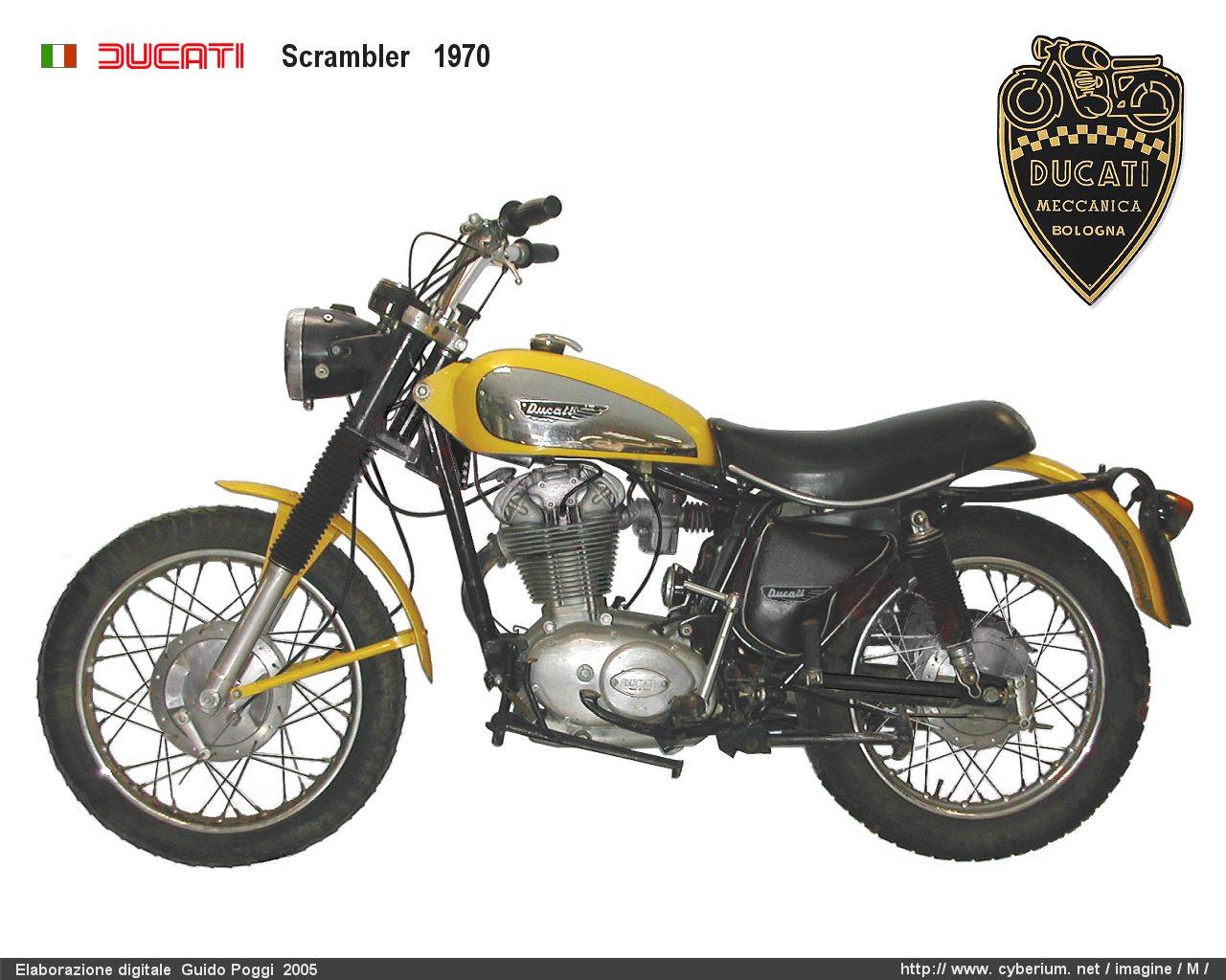 Ducati Scrambler 250 350 450 Moto Epoca Anni 70