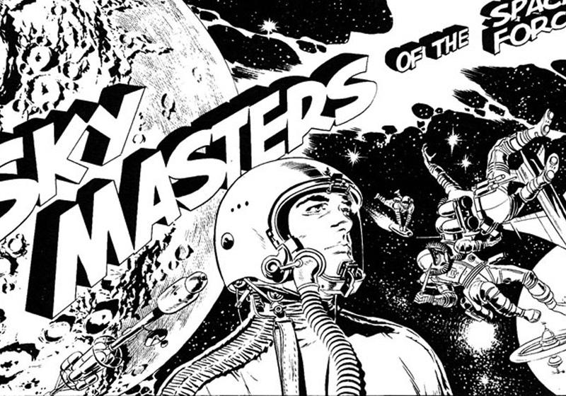 sky masters disegno jack kirby original