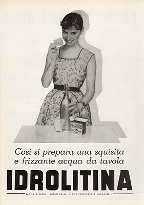 idrolitina carosello 1956 per preparare la frizzina procedimento