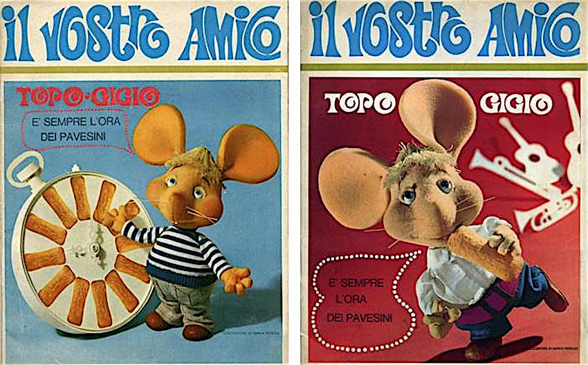 Cartone animato di topo gigio il romantico