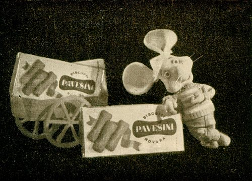 PAVESINI  (dal 1948) – Carosello con Topo Gigio – (Dal 1963)