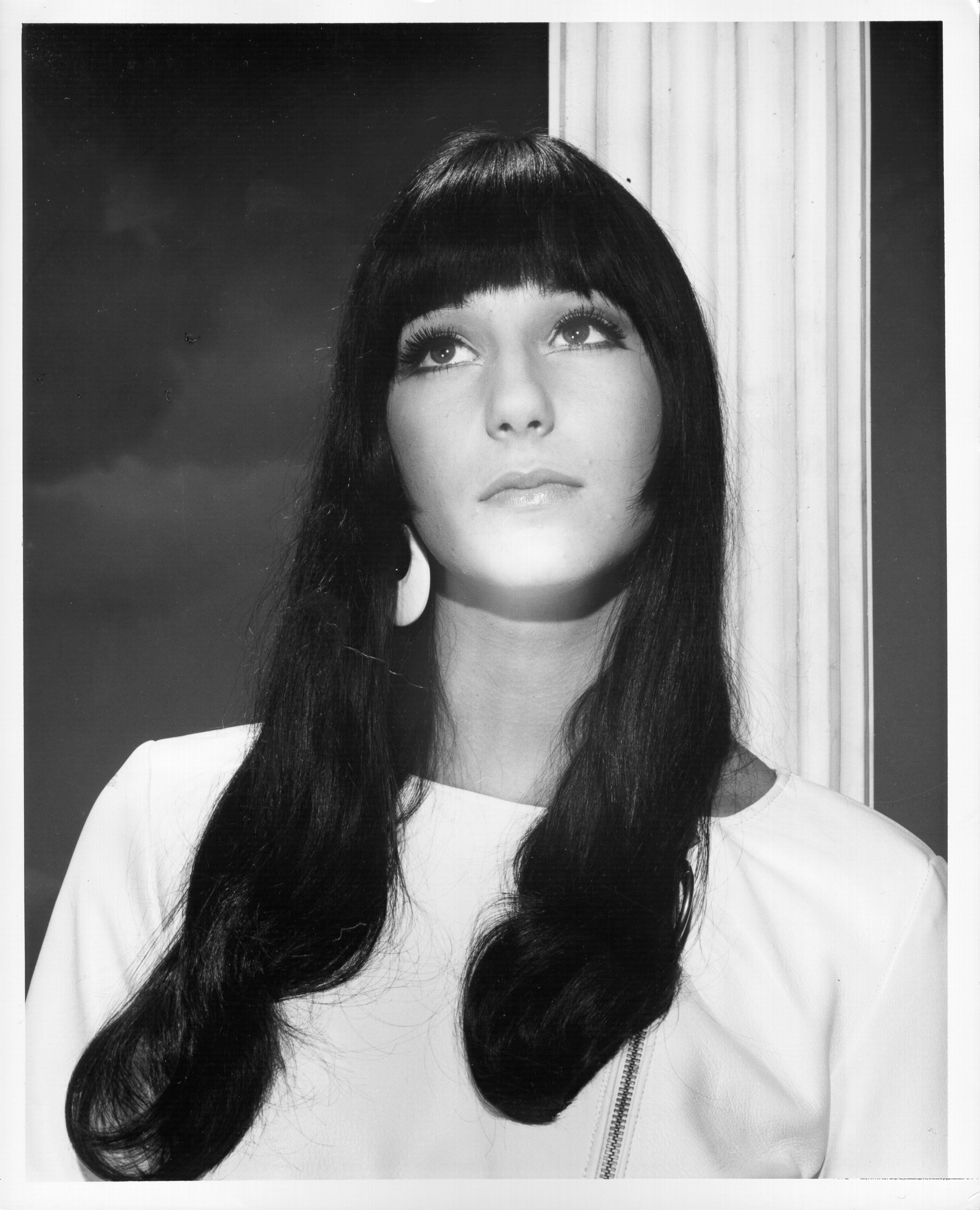 1963: Photo of Black & White Cher, Los Angeles circa 1963. (Photo by Michael Ochs Archives/Getty Images)