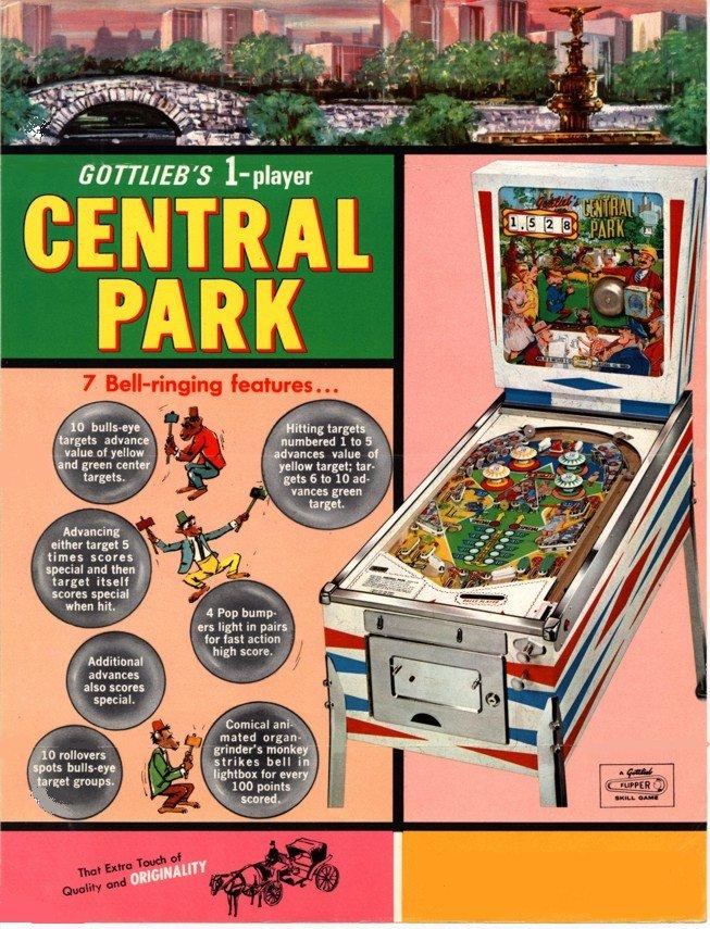 flipper central_park_1966 gottlieb
