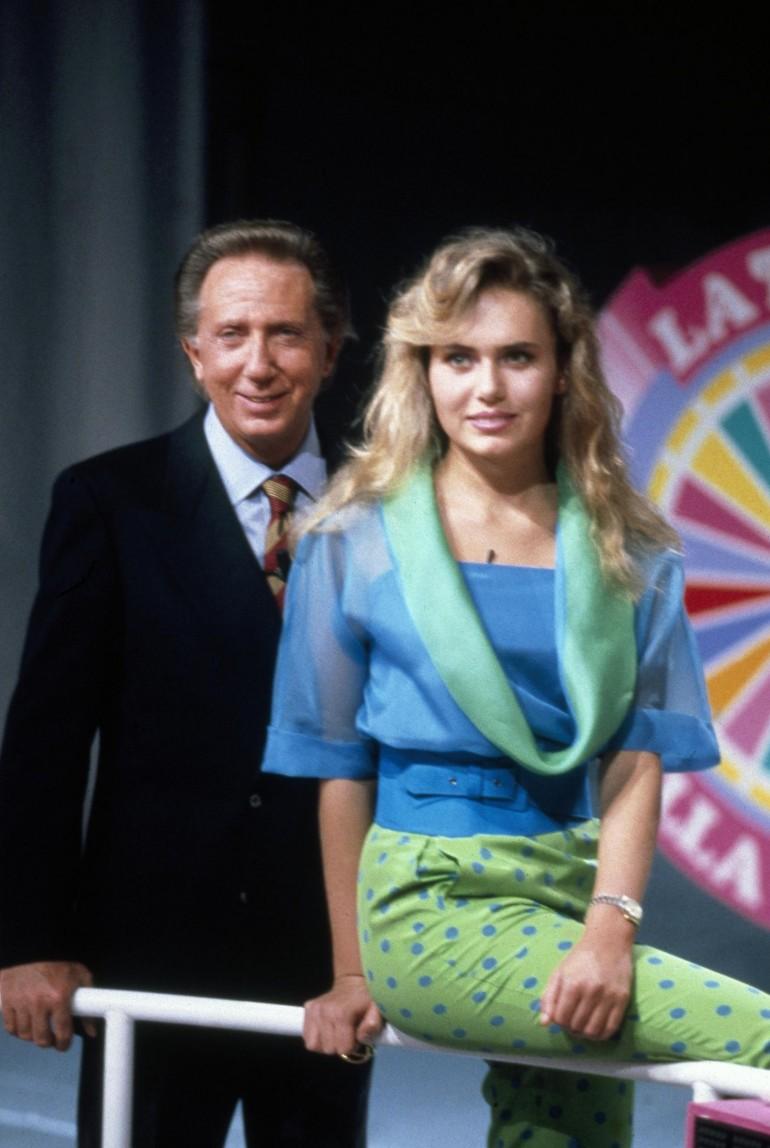 Ylenia Carrisi con Mile Bongiorno in una trasmissione Tv