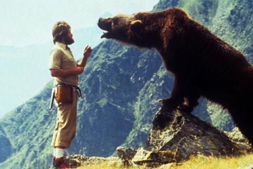 L'orso film addestratore the bear