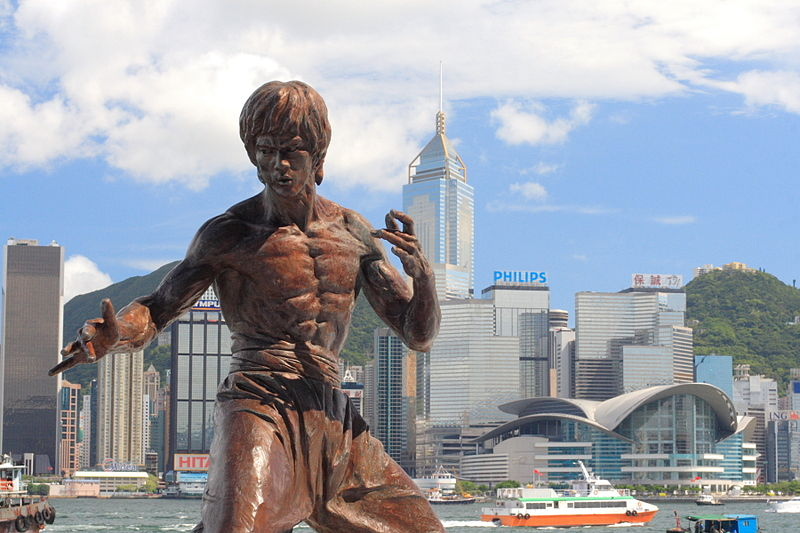 bruce lee statua hong kong